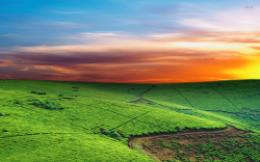 Colorful Sky Over Green Hills Nature Wallpaper #129314Resolution 433
