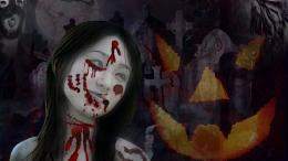 Creepy ghost girl for halloween day wallpaper 1822
