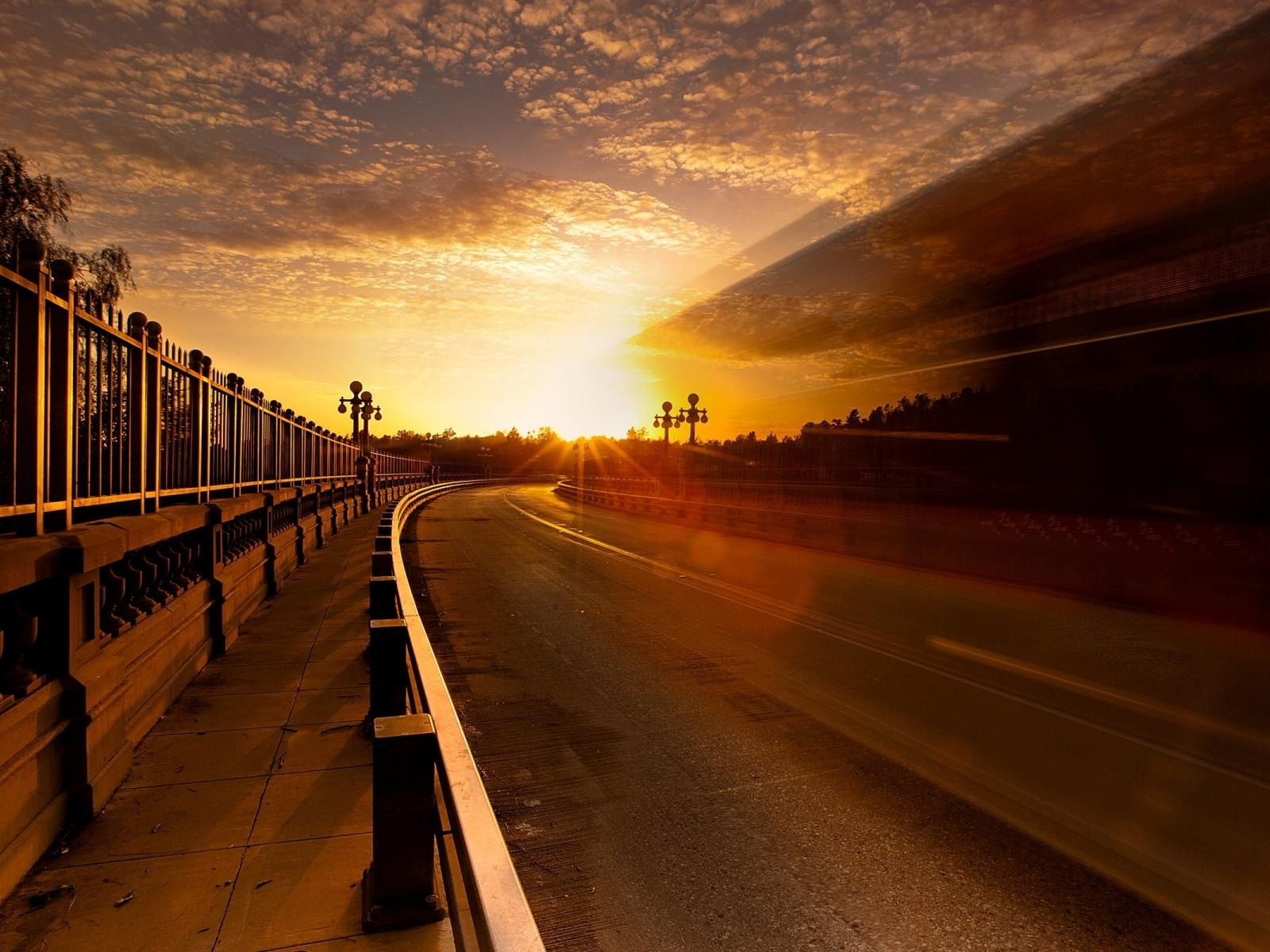 Similar wallpapers for Curve road in sunset 1390