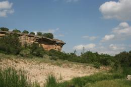 Unique Rock Formation in River Falls near Amarillo in the Palo Duro 400
