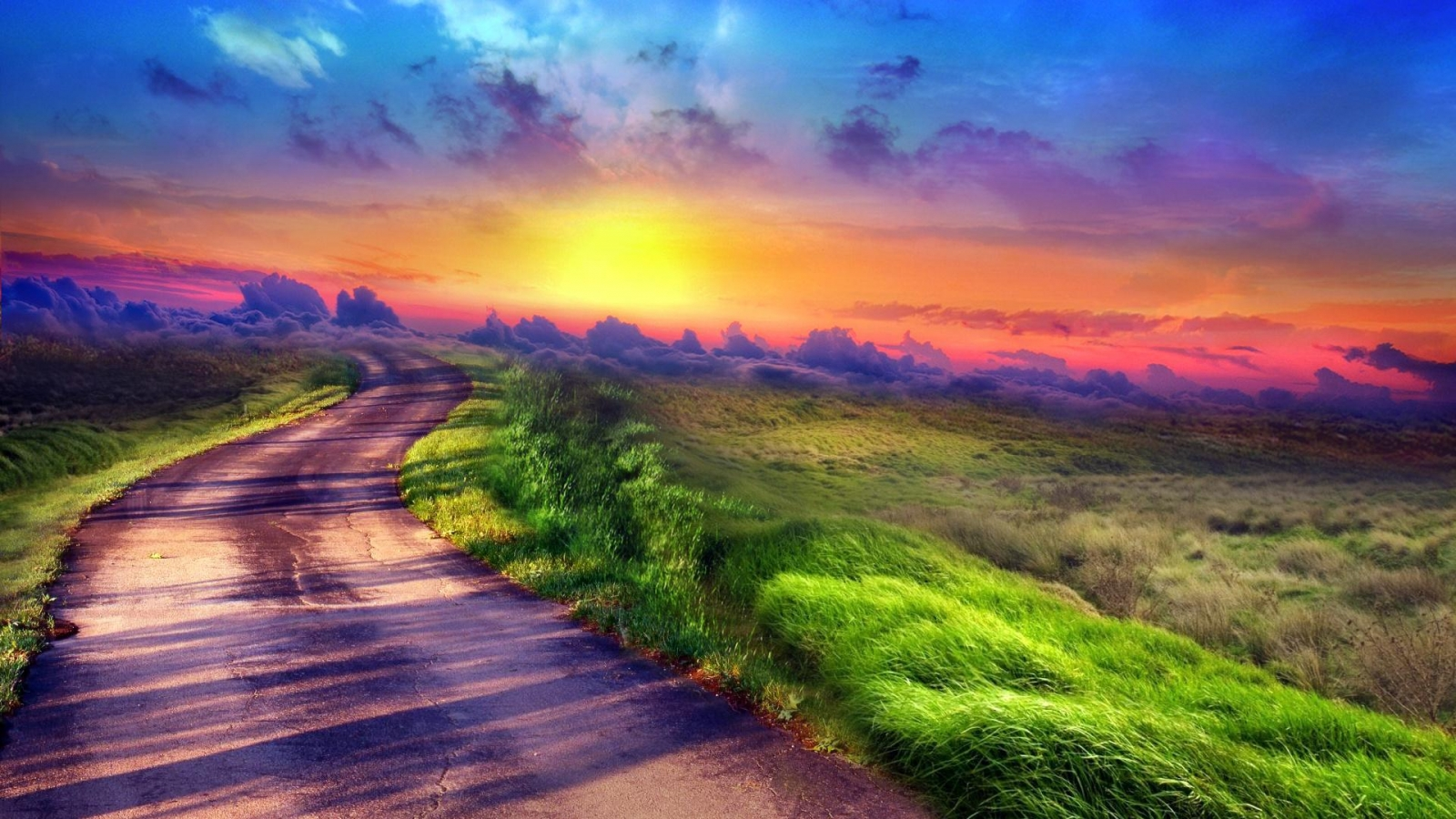 Download Sunset path wallpaper in Nature wallpapers with all 218