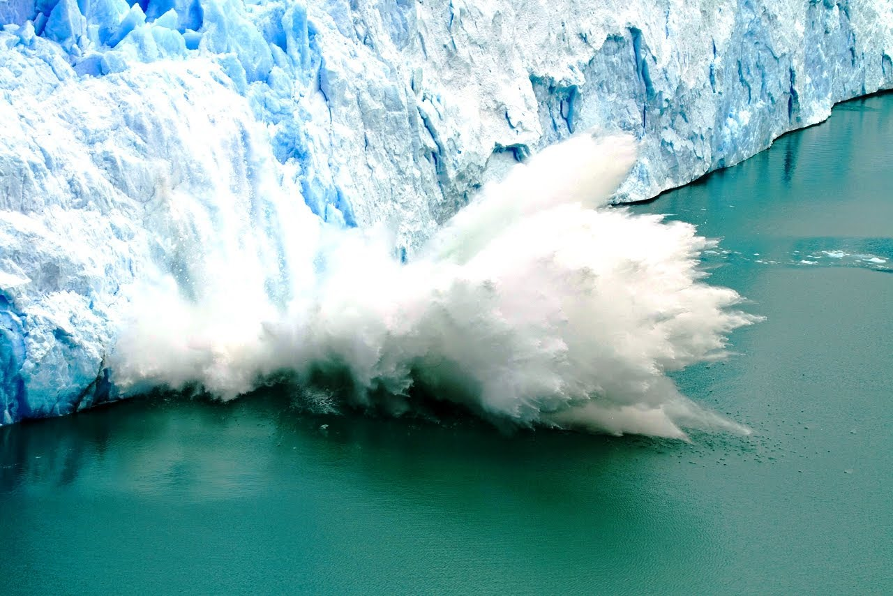 Awesome Glacier Iceberg Time Lapse ~ Moving, Colliding, Falling 1420