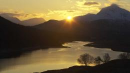 Loch Garry at sunset, Glen Garry, Western Highlands, Scotland 332