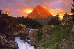 Grinnell Point and Swiftcurrent Falls, Glacier National Park, Montana 431