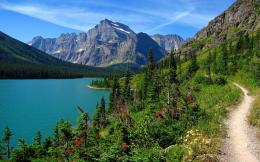 View of Lake Josephine from Grinnell Glacier TrailPhoto © Rick 1855