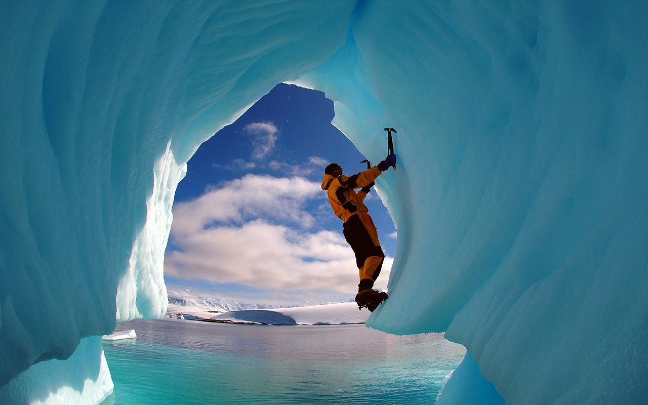 ice climbing wallpaper - photo #10