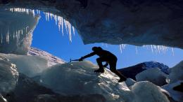 Ice climbing mendenhall glacier Alaska sport free desktop background 641