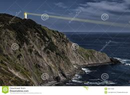 Lighting Lighthouse On The Cliff Royalty Free Stock ImageImage 1094