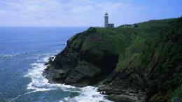 Download Wallpaper Lighthouse on a high cliff1600 x 900 widescreen 802