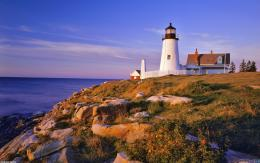 Pemaquid lighthouse and cliffsmaine, usa wallpaper #6123Open 663