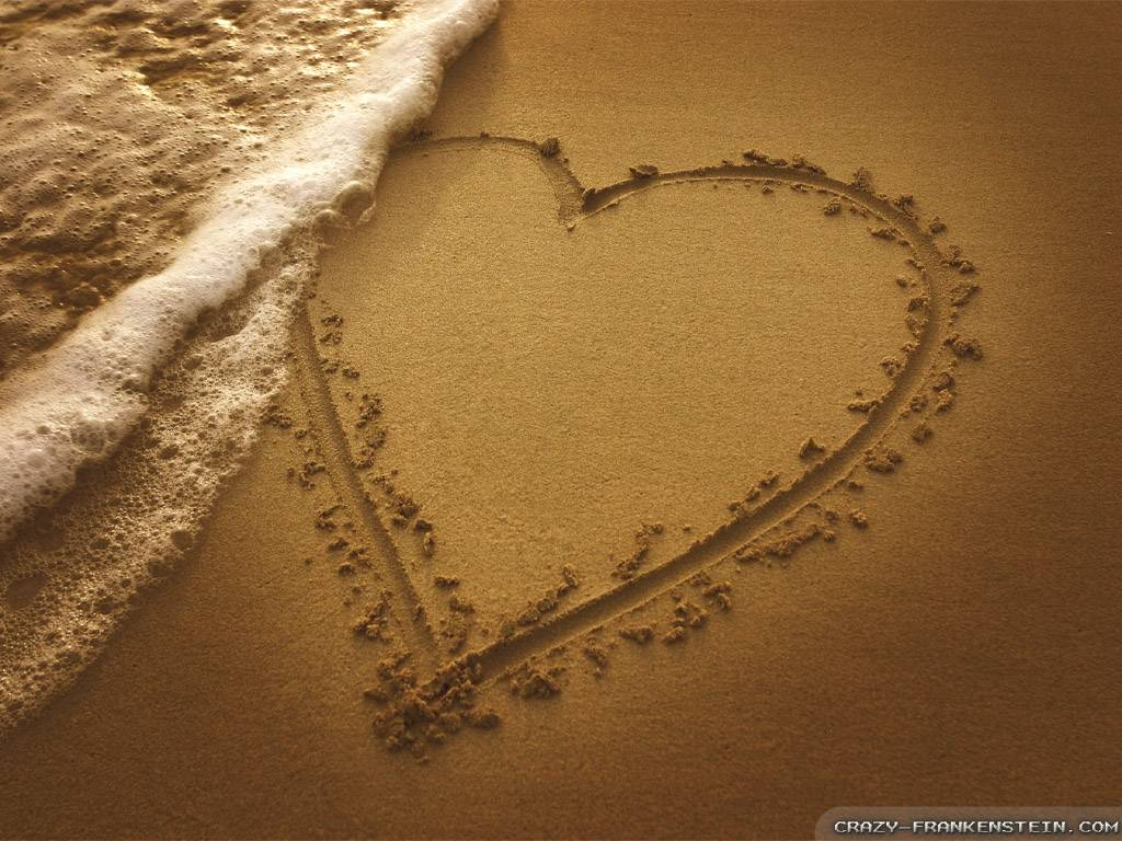 185247 Love Sign On The Beach Wallpaper Hd free backgrounds picture 1281