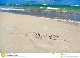 Sign Love On Sand On Caribbean Beach Stock ImagesImage: 26242214 917