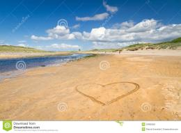 Irish Beach With Love Heart Sign Royalty Free Stock ImagesImage 404