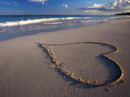 185246 Love Sign On The Beach Wallpaper Hd image background 1740