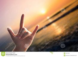 Hands Love Sign On Sunset Beach Stock PhotoImage: 49710976 1316