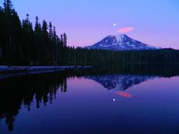 Peaceful Mount Adams Reflection by FlutterbatIsMagic on DeviantArt 693