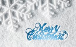 Ice Blue Merry Christmas HD Wallpaper 772