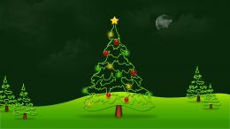 Beautiful Green Merry Christmas Tree HD Wallpaper 504