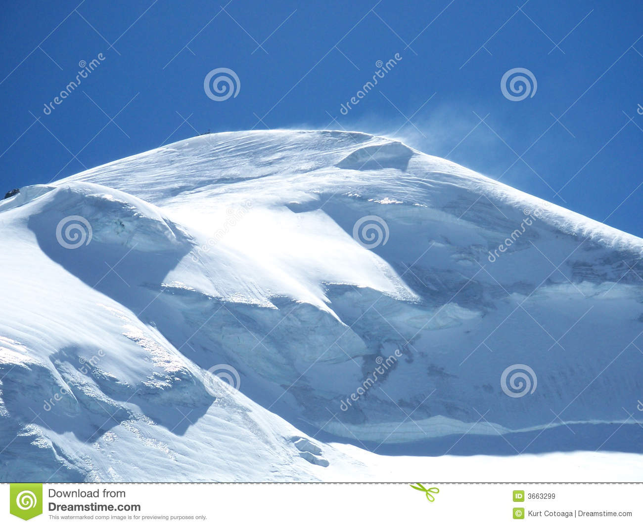 The snow covered mountain top of the Allalinhorn4027near Saas Fee 158