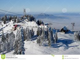 Snowy mountains in Poiana Brasov, Romania, winter time 325
