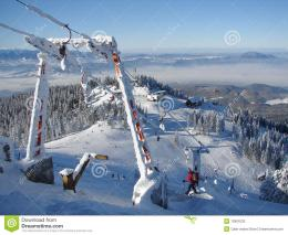 Snowy mountains in Poiana Brasov, Romania, winter time 698
