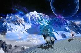 Space Snow Mountain | WallpaperCow com 1549
