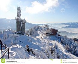Snowy mountains in Poiana Brasov, Romania, winter time 348