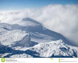 Mountain Top In Snow Stock ImagesImage: 28695174 1644