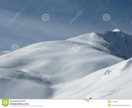 Snowy Top Of A Mountain Stock PhotographyImage: 18120082 370