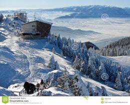 Snowy mountains in Poiana Brasov, Romania, winter time 394