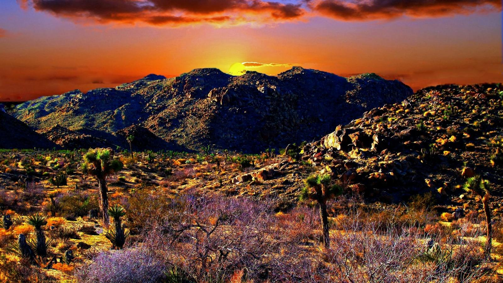 Sunset nature landscape deserts 1600x900 1975