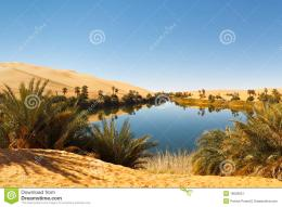 Ma LakeIdyllic oasis in the Awbari Sand Sea, Sahara Desert, Libya 690