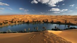 Oasis in the libyan desert nature sand wallpaper 1009