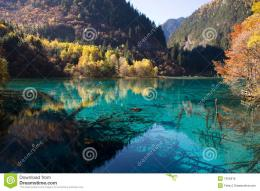 Colorful and peaceful lake in autumn 1528