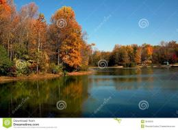 Fall Lake Scene Royalty Free Stock ImagesImage: 3549349 1738