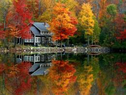 Lake House In Autumn | A Pondering Mind 1365