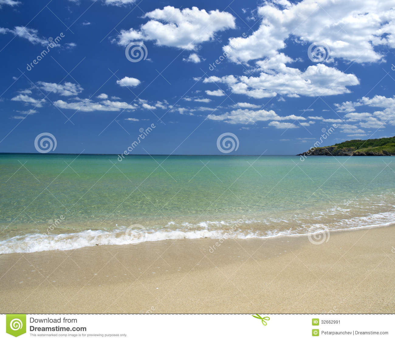 Peaceful Beach Stock ImageImage: 32662991 537