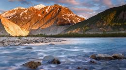 River British Columbia Canada Wallpaper 1920x1080 Sunset, Alsek, River 1461