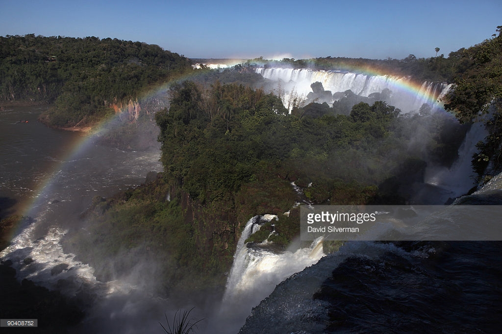 River, straddling the border between Brazil and Argentina, and has an 750