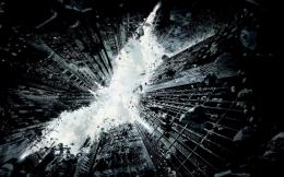 Batman the dark knight rises movie with city destruction wallpaper 1210