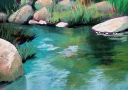 Painting in Pastels: CHAPTER SIXTEENWATER AND REFLECTIONS 322