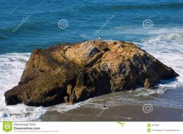 Big Rock On The Beach Royalty Free Stock PhotographyImage: 4576857 671