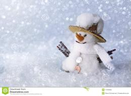 Snowman With Snow Stock PhotographyImage: 17246062 1310