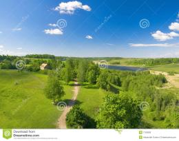 Summer Landscape Of Green Valley And Blue Sky Stock PhotosImage 1001