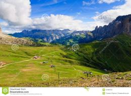 Summer View Of Dolomites Valley Stock ImagesImage: 15498194 1123