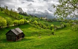 Transylvania Romania Grass Valley Mountains Green Summer Wallpaper 1790