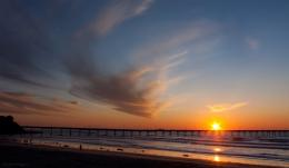 PanoramioPhoto of Sunset over the Ocean Beach fishing pier in San 1403