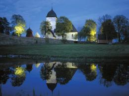 Church at Night Sweden 1600 x 1200 Picture 821