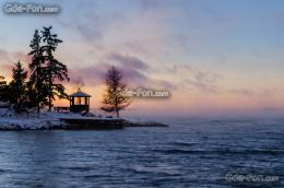 Download wallpaper Sweden, winter, lake, arbor free desktop wallpaper 1009