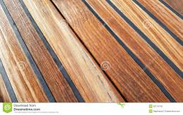 Stock Photo: Wet teak deck wallpaper 640